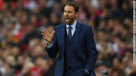 Gareth Southgate was brought in as England caretaker boss for four matches.