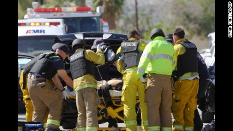Palm Springs shooting: Two police officers killed, one wounded