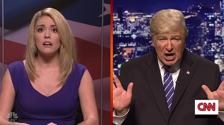 'SNL' takes on the Trump tape