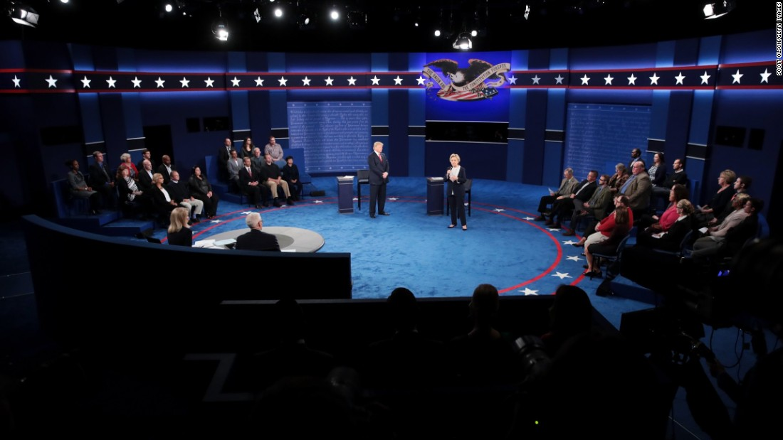 The event in St. Louis was the second of three scheduled debates. Election Day is less than a month away.