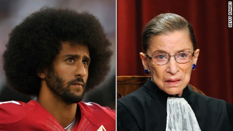 Ruth Bader Ginsburg on Kaepernick protests: 'I think it's dumb and disrespectful'