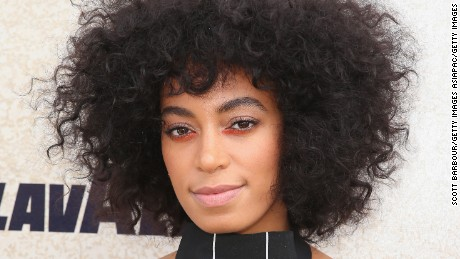 MELBOURNE, AUSTRALIA - NOVEMBER 01:  Solange Knowles arrives at the Lavazza Marquee on Derby Day at Flemington Racecourse on November 1, 2014 in Melbourne, Australia.  (Photo by Scott Barbour/Getty Images)