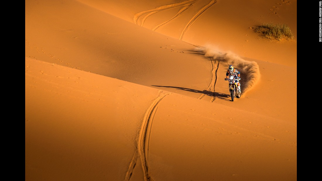 Matthias Walkner competes in the Morocco Rally on Thursday, October 6.
