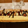 Chef-and-the-dog-Japanese-katsu-dog-with-panko-crusted-sausage,-wasabi-mayo-and-ginger-pickle