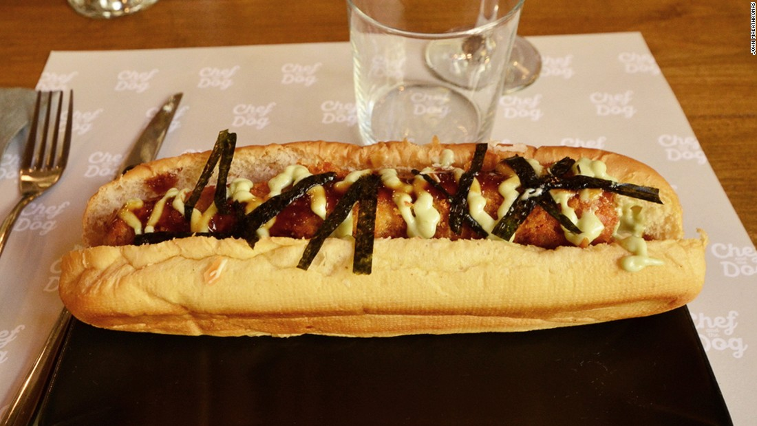 An unusual new addition to the Greek street food landscape is the exotic hot dog. German, Japanese katsu, Korean, Mexican and even lobster dogs are served at takeaway joint Chef and the Dog.