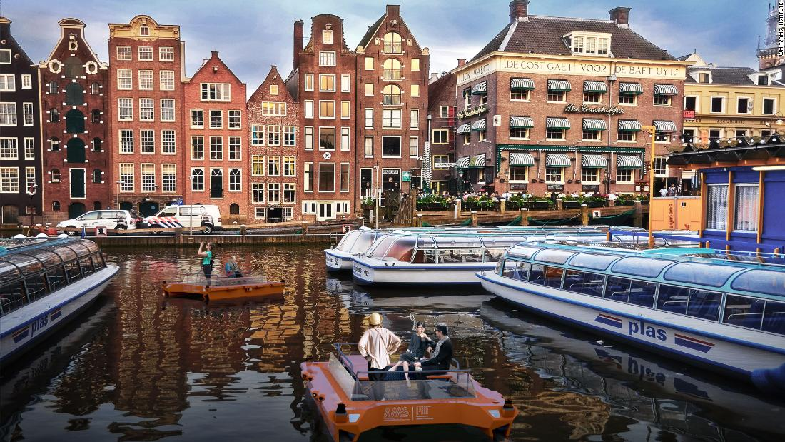 "The first self-driving boat - the ""Roboat"" - will sail for the first time in Amsterdam in 2017."