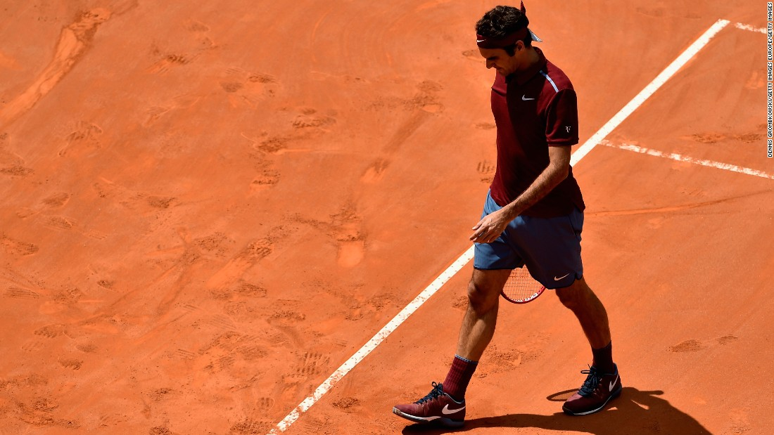 Illness then surfaced and Federer's run of 65 straight appearances at majors ended when he missed the French Open because of a back problem.