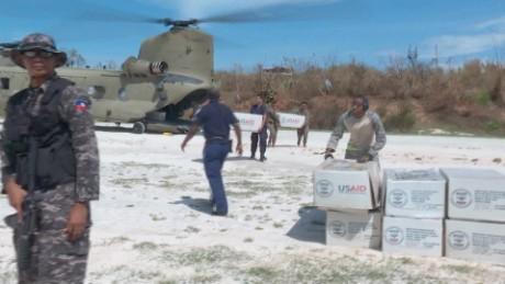 US aid arrives in Haiti