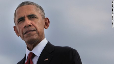 ARLINGTON, VA - SEPTEMBER 11:  U.S. President Barack Obama participates in a moment of silence during a ceremony to mark the 15th anniversary of the 9/11 terrorists attacks at the Pentagon Memorial September 11, 2016 in front of the Pentagon in Arlington, Virginia. This year marks the 15th anniversary of the September 11th terrorist attacks that killed nearly 3,000 people at the World Trade Center, Pentagon and on Flight 93. (Photo by Dennis Brack-Pool/Getty Images)