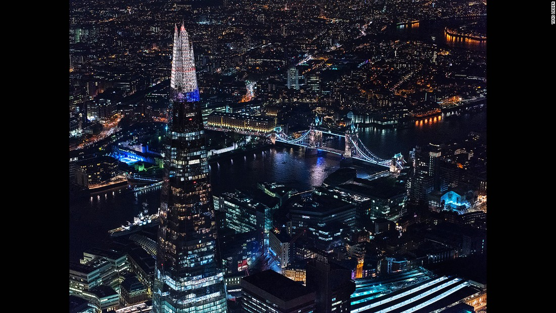 The 95-story Shard -- inaugurated in July 2012 -- is the UK's tallest building. There's an open-air observation deck on the 72nd floor.