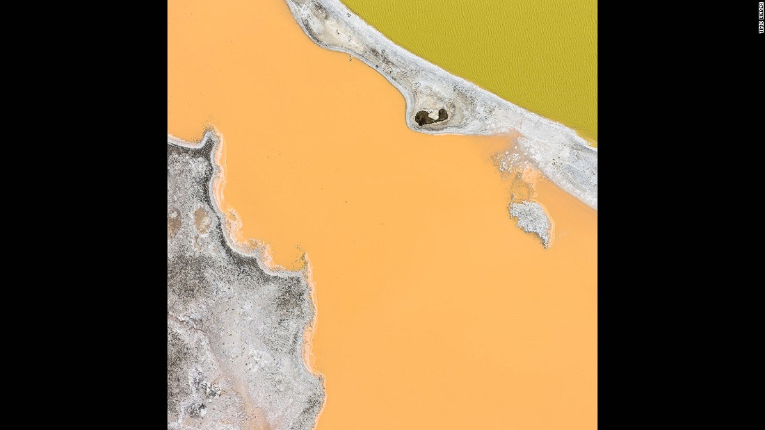 "Another salt evaporation pond from the ""Earth Patterns"" series, this time in the Bahamas."