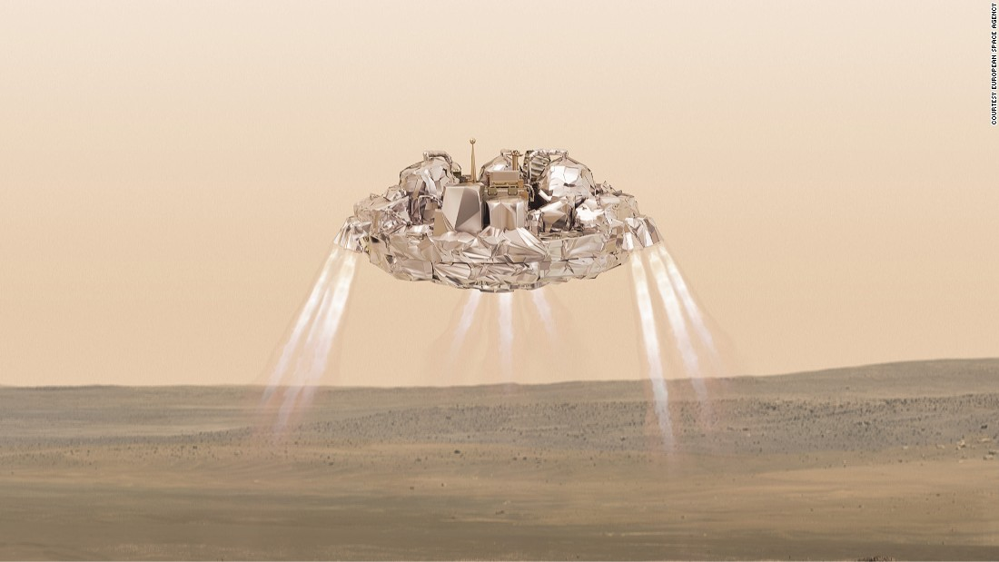 Schiaparelli will be measuring wind speed, temperature, humidity and pressure on Mars.