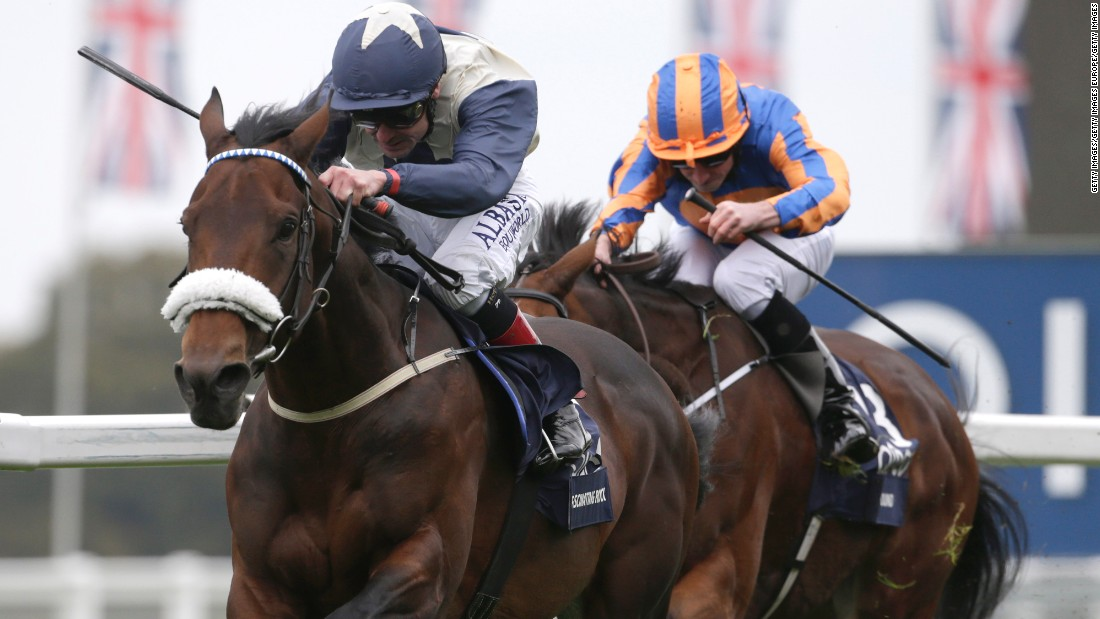Smullen and Fascinating Rock close in on the Ascot finishing line last year.