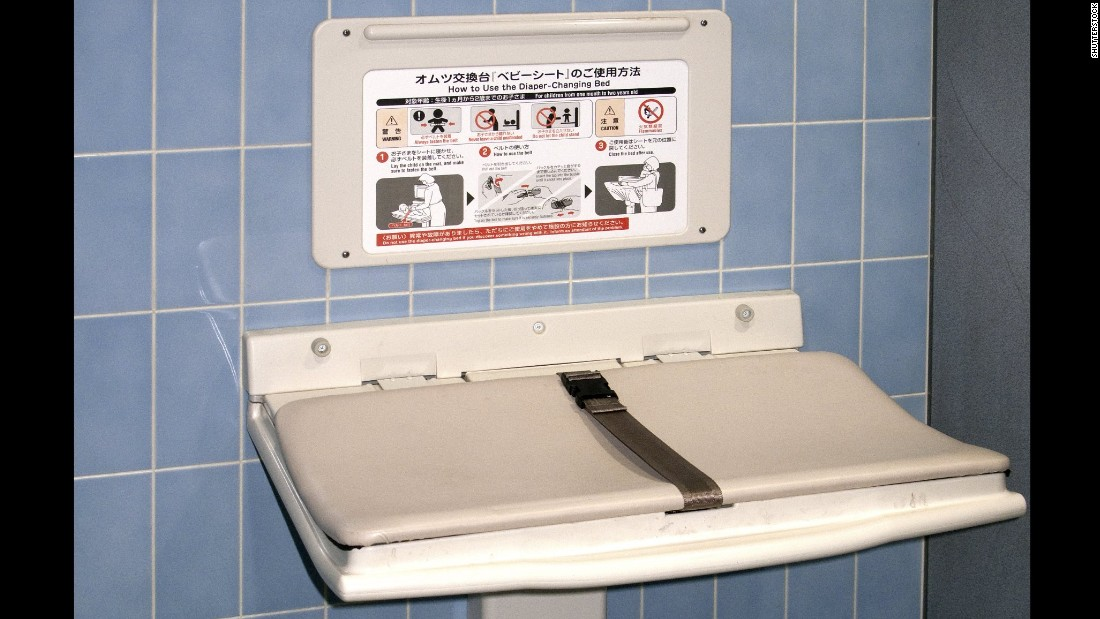 Diaper changing stations coming to more men 39 s restrooms for Changing table for bathroom