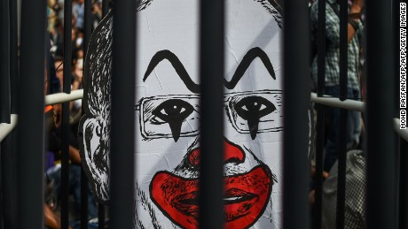 Fahmi's depiction of Prime Minister Najib as a clown has become a symbol of dissent in Malaysia.