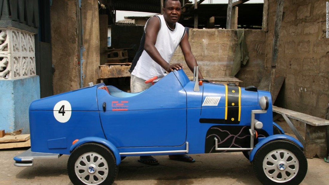 "Daniel ""Hello"" Mensah, was an apprentice for Paa Joe, before launching his own practice the ""Hello Design Coffin Works."""