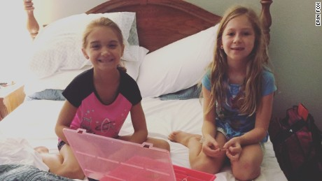 Madeline with friend from Orlando who sought shelter in her Tampa home