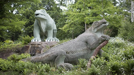 Crystal Palace Dinosaurs: 50 minutes from Oxford Circus. (Nearest station: Crystal Palace / Penge West)