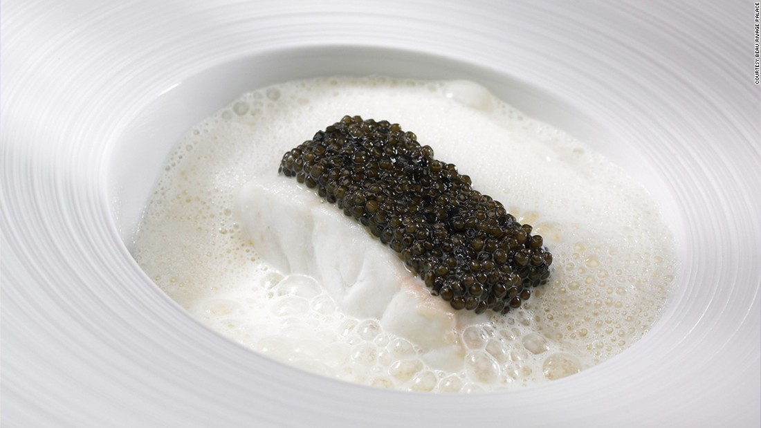 French chef Anne-Sophie Pic is the third generation in her family to obtain three Michelin stars. Her breathtaking creations in Lausanne include a beautifully simple black and white plate where sea bass meets black caviar from near Bordeaux.