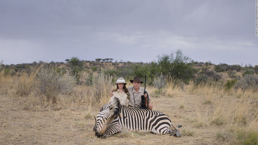 His subjects, European tourists, make the journey to Namibia to hunt big game, such as zebras and giraffes. At the hunting lodge, Seidl searches the guests for reasons why these otherwise normal people engage in such a controversial activity.