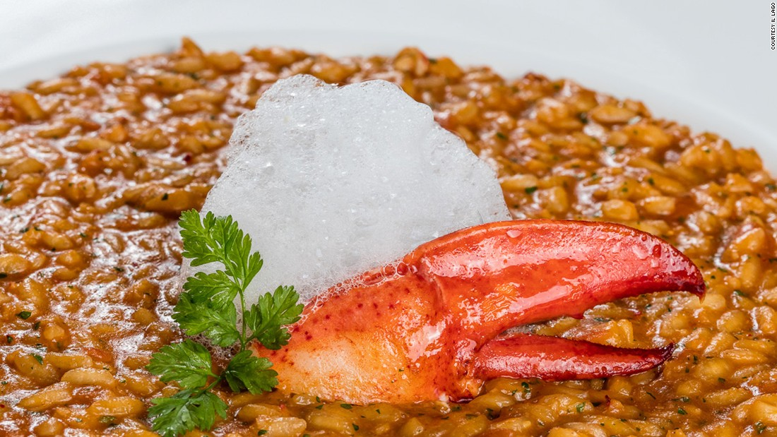 Swiss food is about more than melted cheese and chocolate. At Il Lago in Geneva, one of the menu highlights is Lobster Aquarello risotto, which comes with an emulsion of truffles.