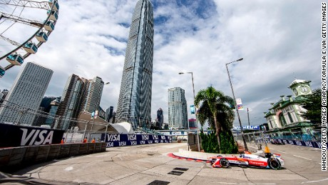 The 1.8-kilometer Hong Kong track was located on the Central Harborfront.