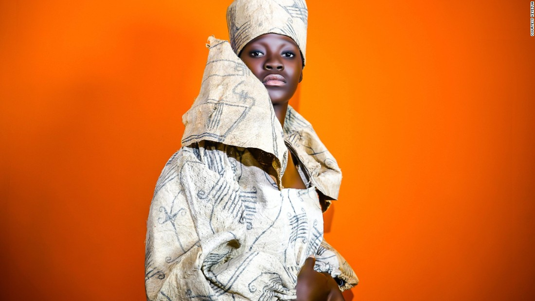 """Old Angolan weave masters"" she writes, ""were never challenged to reconstruct and revive traditional crafts made with materials found and further developed in Angola."" The Angolan born artist is known for her previous work -- a series of digitally collaged women -- created in support of Artists Against FGM."