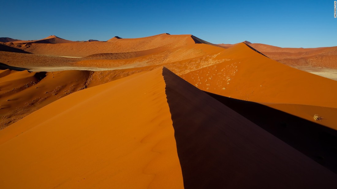 Located in Africa's largest conservation area, Sossusvlei is a salt and clay pan encircled by some of the world's tallest dunes. For wildlife lovers, the seemingly barren landscape also boasts surprising biodiversity. For solitude lovers, it's blissfully devoid of people.