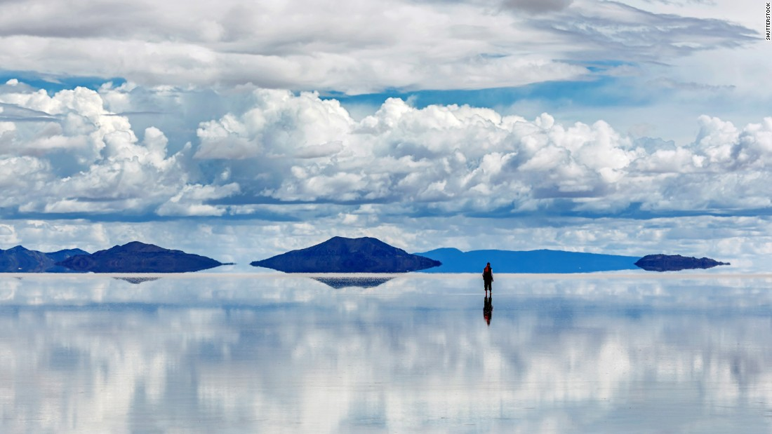 Covering an area nearly the size of Jamaica, Bolivia's Salar de Uyuni is the world's largest salt flat. The shimmering flats are a paradise for creative photographers who love a good optical illusion. Sunglasses recommended.