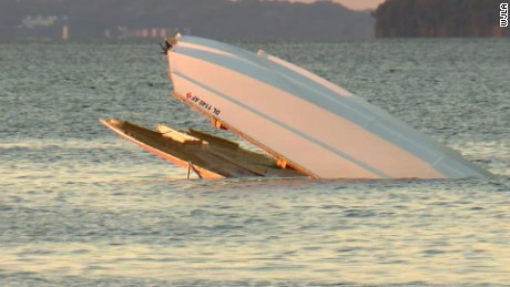 Maryland police say 2 men died after their speedboat flipped on the Potomac River near Fairview Beach, Virginia