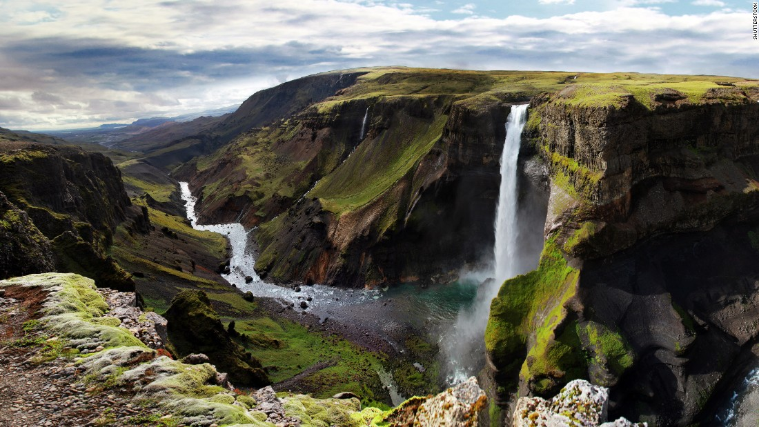 In southern Iceland, the Fossá River plunges more than 400 feet to create the majestic Haifoss waterfall, the country's second highest. The glacial river also feeds other waterfalls in the area, including Granni, located next door to its taller sibling.