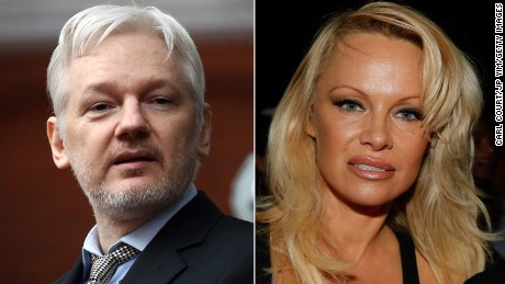 Julian Assange's visit with Pamela Anderson this weekend set off all kinds of chatter on social media.