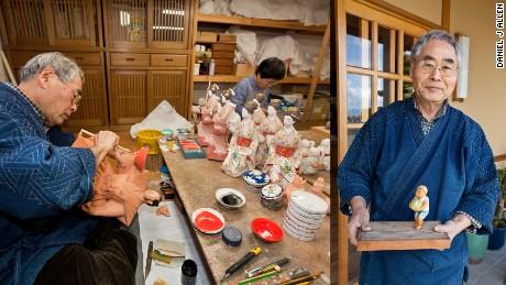 Master doll-maker Kuniaki Takeyoshi.