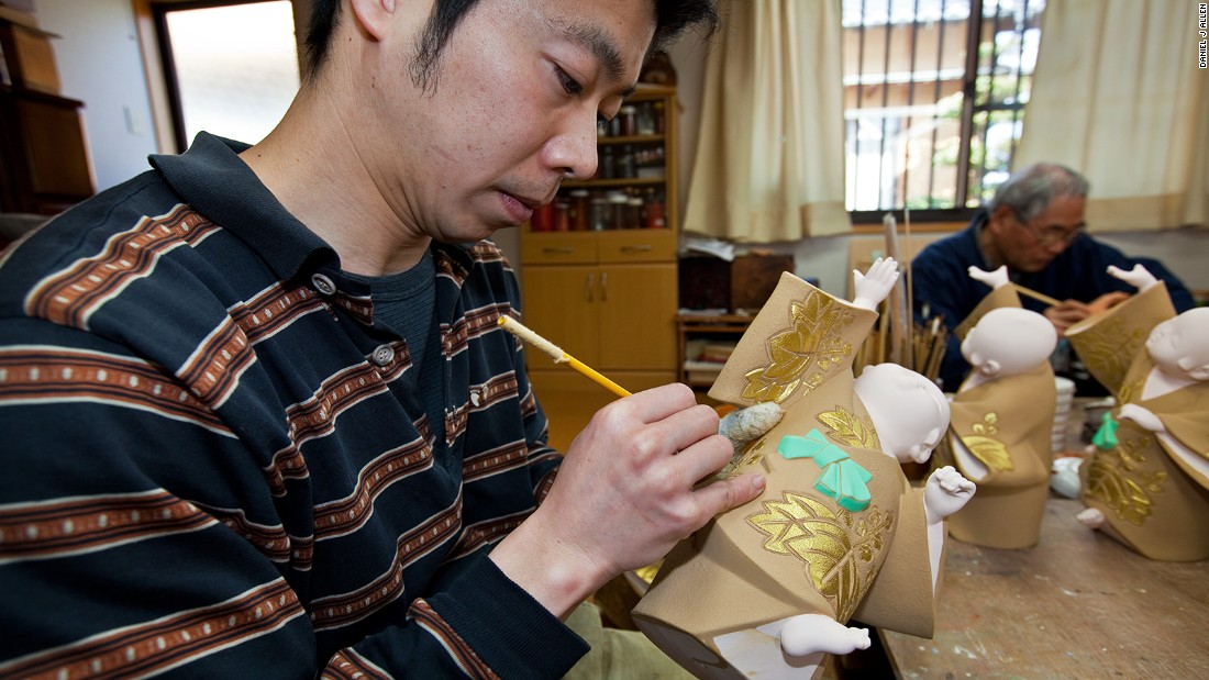"The future of Hakata doll-making rests on the shoulders of people such as 42-year-old Manabu Hayashi, Takeyoshi's apprentice for the last six years. ""My friends were surprised when I changed careers,"" says Hayashi with a laugh, ""but when they saw my passion they supported me. My master has been very patient. The relationship between teacher and student is very important."""