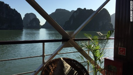The cruise begins in Ha Long Bay.