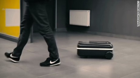 Travelmate Robotics created a motorized autonomous suitcase that may make your airport travel easier