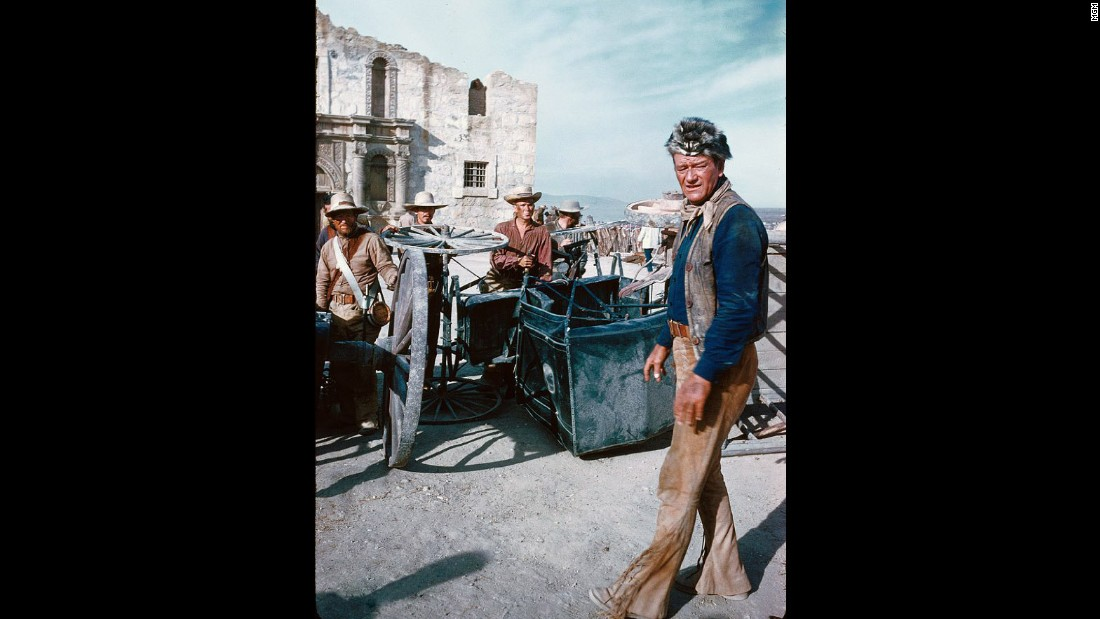 "John Wayne as Davy Crockett in the 1960 movie, ""The Alamo."" How do Mexican-Americans see themselves reflected in such a movie when they have a different sense of history than many white Americans?"