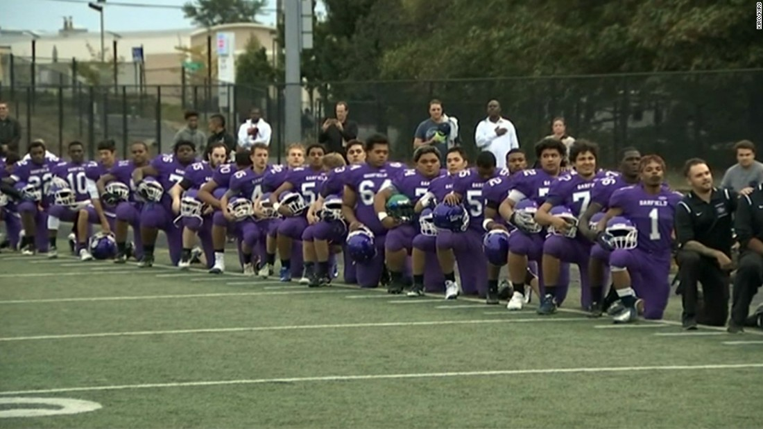 "The Obama era has seen the rise of a ""dangerous"" patriotism. It's dangerous because it takes risks, such as when the entire Garfield High School football team, along with half a dozen players from the West Seattle High School football team, knelt during the national anthem before a game.<br />"