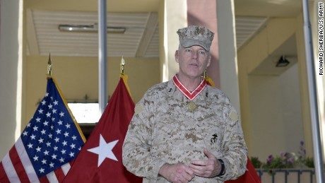 Maj. Gen. Niel E. Nelson, Commander of US Marine Corps Forces Europe and Africa