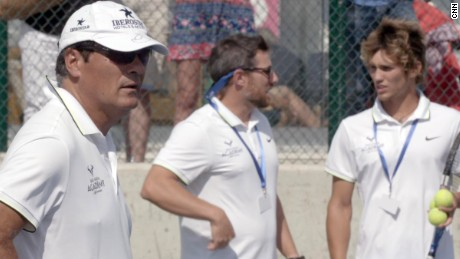 Nadal's uncle Toni, left, is the academy's head coach.