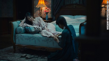 "Kim Min-hee and newcomer Kim Tae-ri in ""The Handmaiden""."