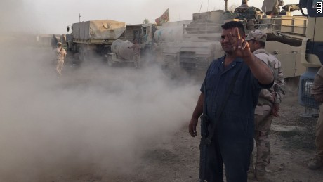 """Next stop, Mosul,"" says Sgt. Muhanned Hameed, a technician in the 9th Iraqi armored division."