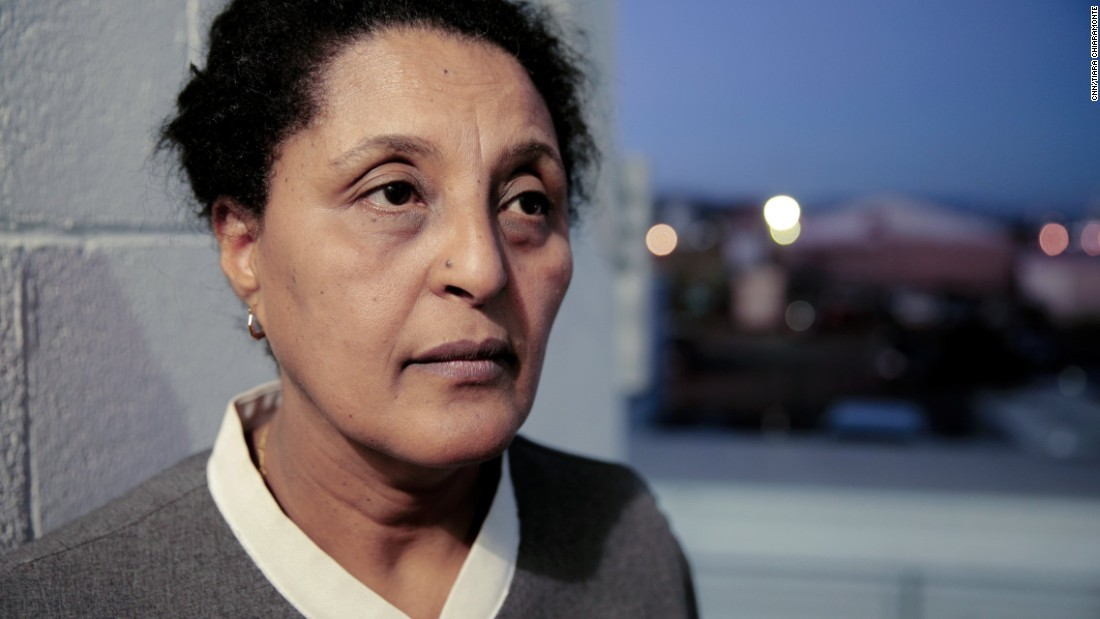 "Elizabeth Moges immigrated to the United States from Ethiopia five years ago. She works as a guest room assistant at the Trump International Hotel Las Vegas. ""America is an immigrant country, we don't need a wall,"" she says. As a permanent resident she does not have a vote, but if she did she would vote for Hillary Clinton, she says."