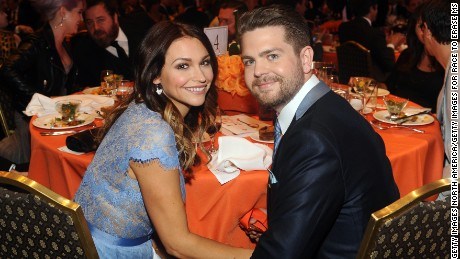 Jack Osbourne and wife Lisa Stelly in 2013.
