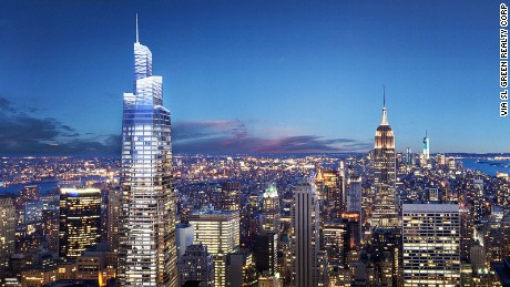 Construction of the One Vanderbilt Avenue tower has begun. The supertall structure will be 1,401 feet tall.
