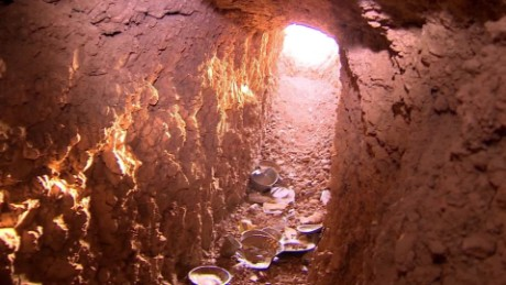Exploring ISIS tunnels near Mosul