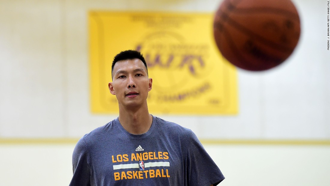 Basketball stars like Yi Jianlian, who plays for the Los Angeles Lakers, have helped to boost the NBA's popularity in China.