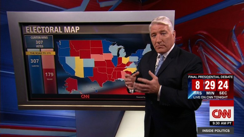 New CNN electoral map shows a widened Clinton lead