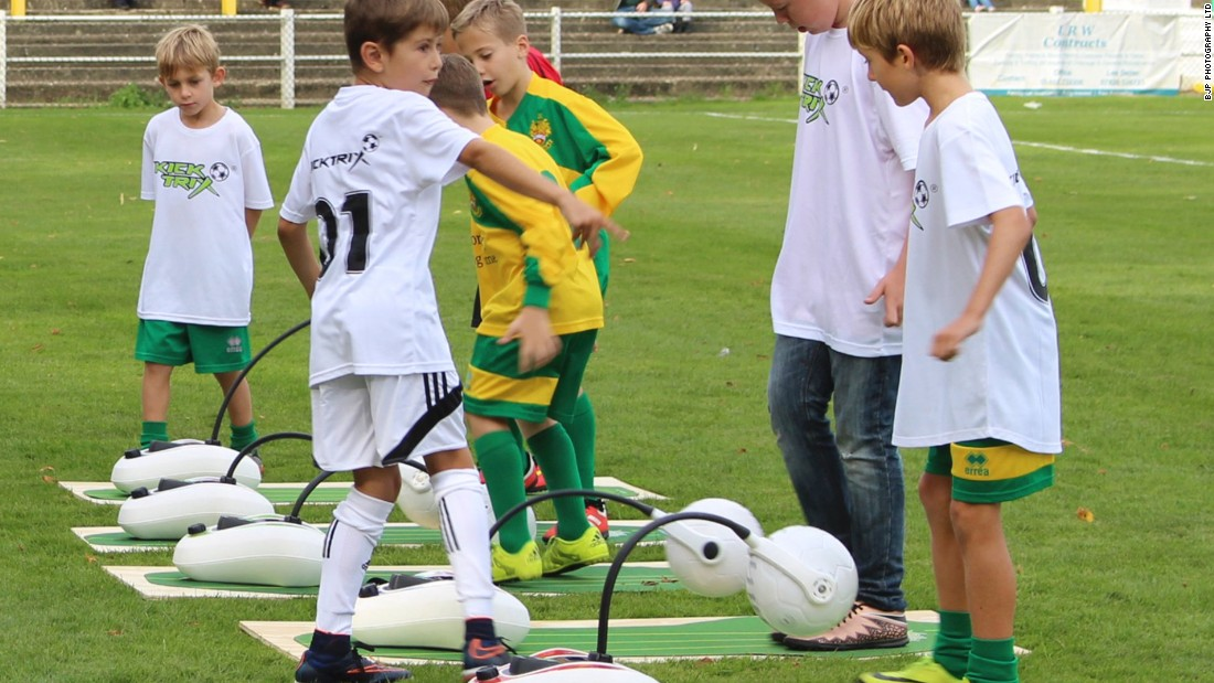 "The device, costing £250 ($305), is developed so that kids can practice football indoors. ""There are a lot of good young players,"" said Hamilton, ""but a lot of them don't make it because they don't have the skills necessary to control the ball."""