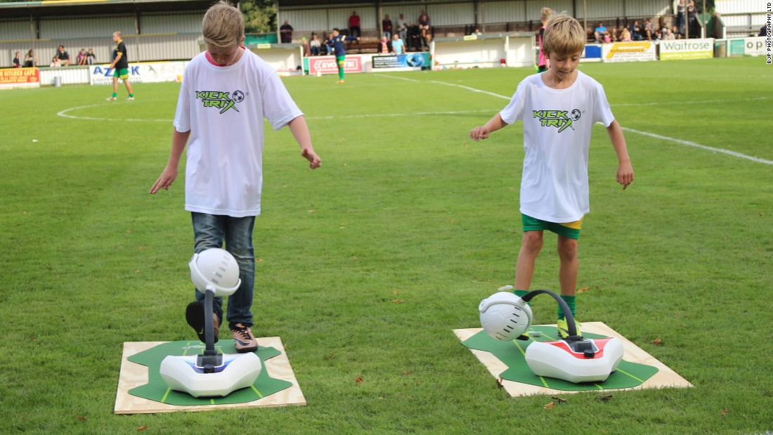 "Hamilton Snr. has recently founded his own business. He hopes that KickTrix, a ""keepy-uppy"" machine, will help budding footballers become Premier League stars."